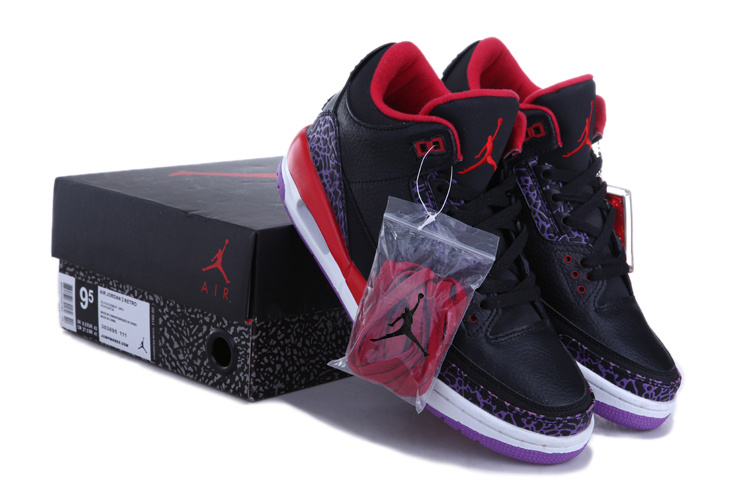 Original Air Jordan III Black Red White