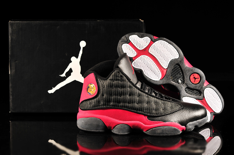 Latest Jordan 13 Retro Black Red Shoes