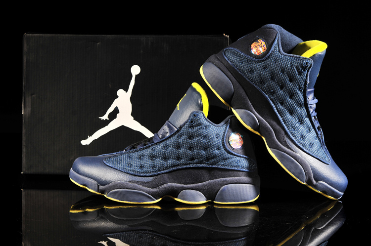 Latest Jordan 13 Retro Blue Yellow Shoes