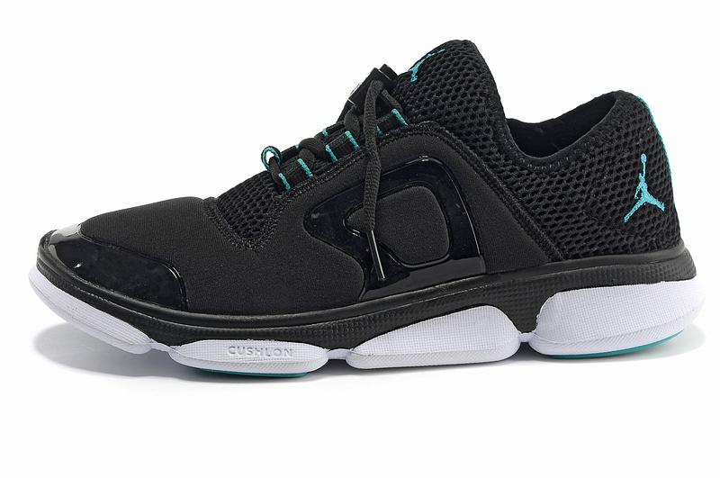 2013 Women Jordan Running Shoes Black White