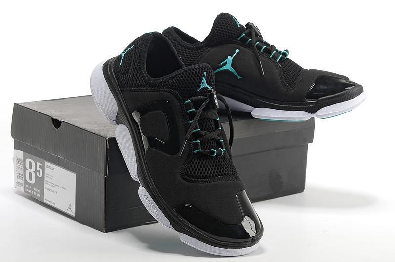 Comfortable Jordan Running Shoes Black White Green