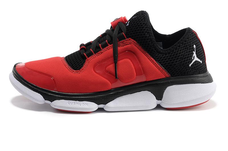 Comfortable Jordan Running Shoes Red Black White