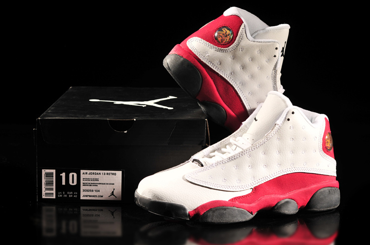Latest Jordan 13 Retro White Red Shoes