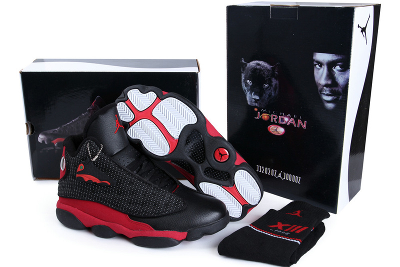 Authentic Air Jordan 13 Black Red with Hardback Package