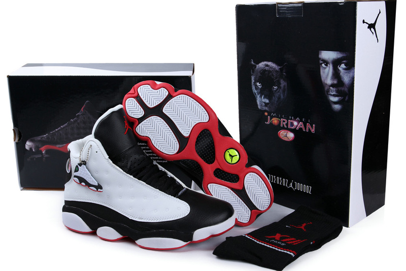 Authentic Air Jordan 13 White Black Red with Hardback Package