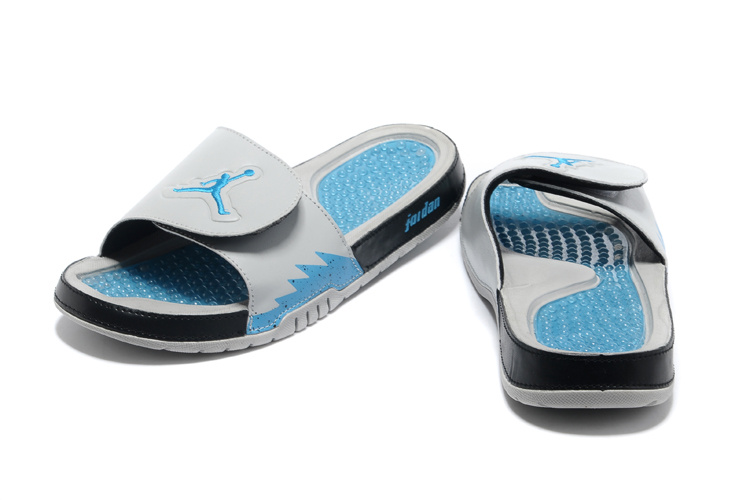 beef22d2938e ... Comfortable And Cool 2013 Jordan Hydro 2 Grey Blue Black Slipper ...