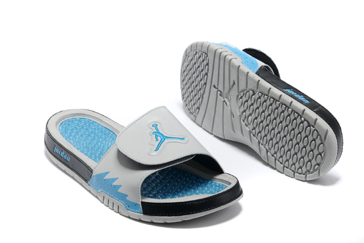 Comfortable And Cool 2013 Jordan Hydro 2 Grey Blue Black Slipper