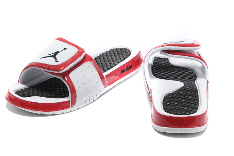 2013 Jordan Hydro 2 White Black Red Slipper
