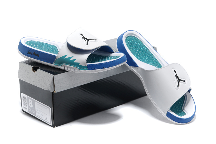 2013 Jordan Hydro 2 White Blue Slipper