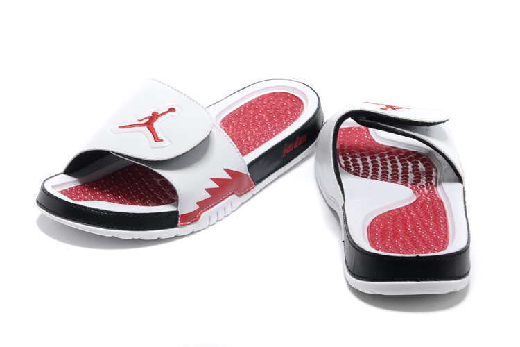 2013 Jordan Hydro 2 White Red Black Slipper