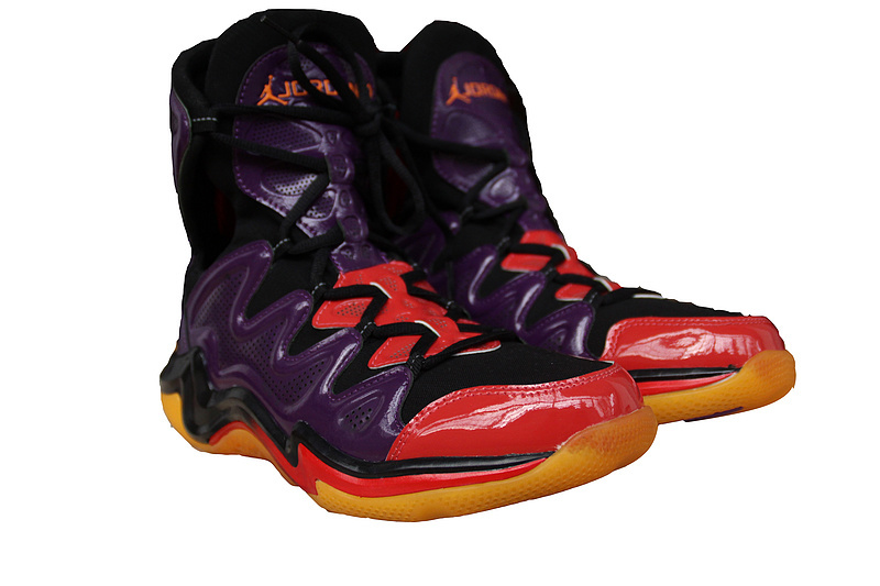 2014 Air Jordan 29 Purple Black Red Orange Shoes