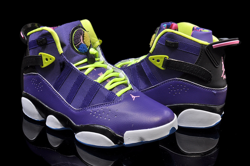 2014 Jordan 6 Rings Retro Purple Black