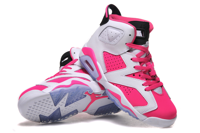 2015 Air Jordan 6 GS White Pink Shoes