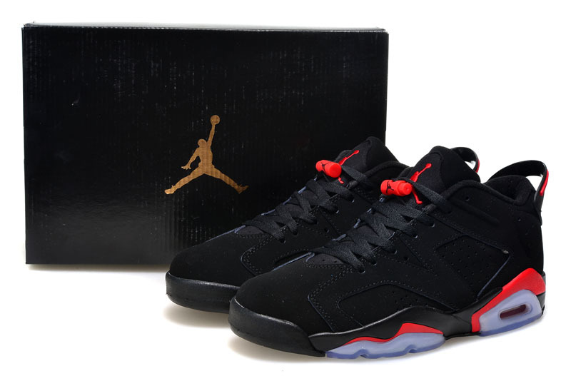 2015 Air Jordan 6 Low Black Infrared 23 Black Shoes