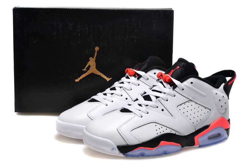 2015 Air Jordan 6 Low GS White Infrared Shoes