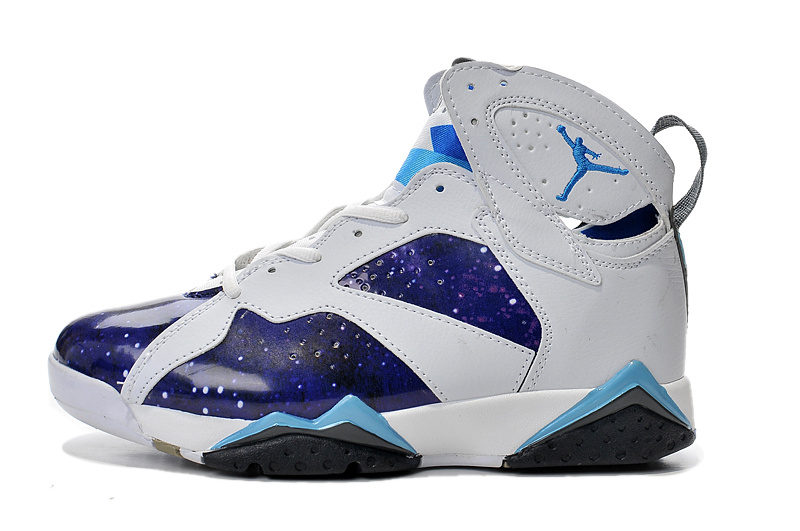 2015 Air Jordan 7 White Galaxy Custom Shoes