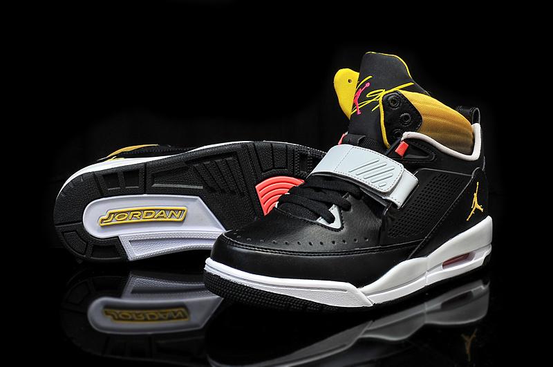 Real 2015 Jordan Flight 97 Black Grey Yellow Shoes