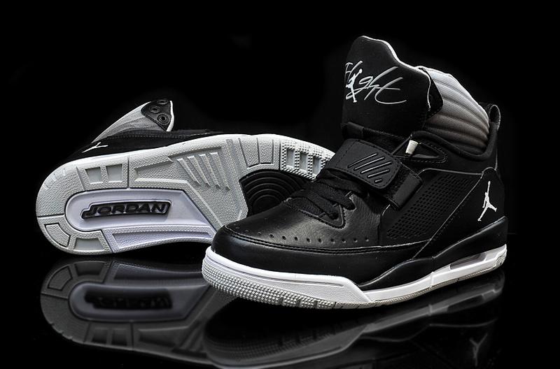 uk availability 13443 5ddb4 Real 2015 Jordan Flight 97 Black White Grey Shoes
