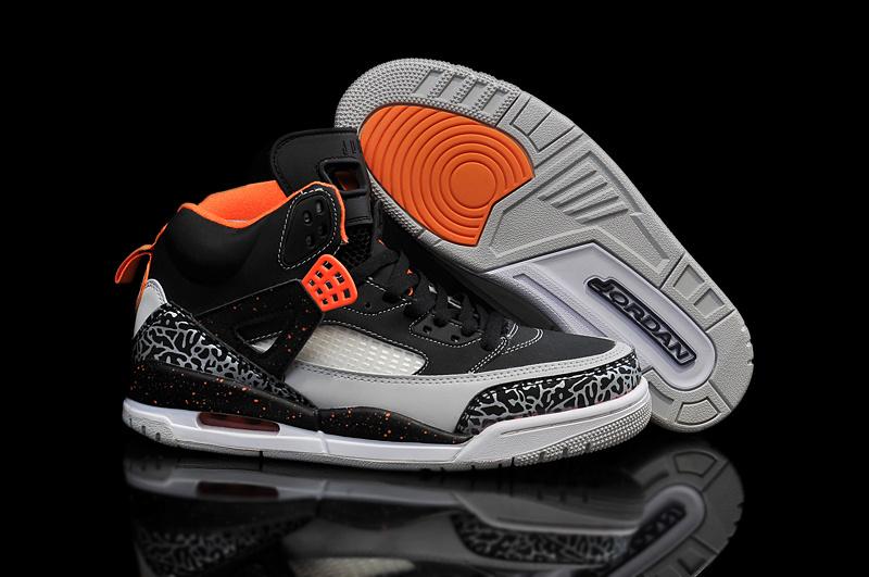 2015 Cheap Real Air Jordan 3.5 Black Orange Grey Shoes
