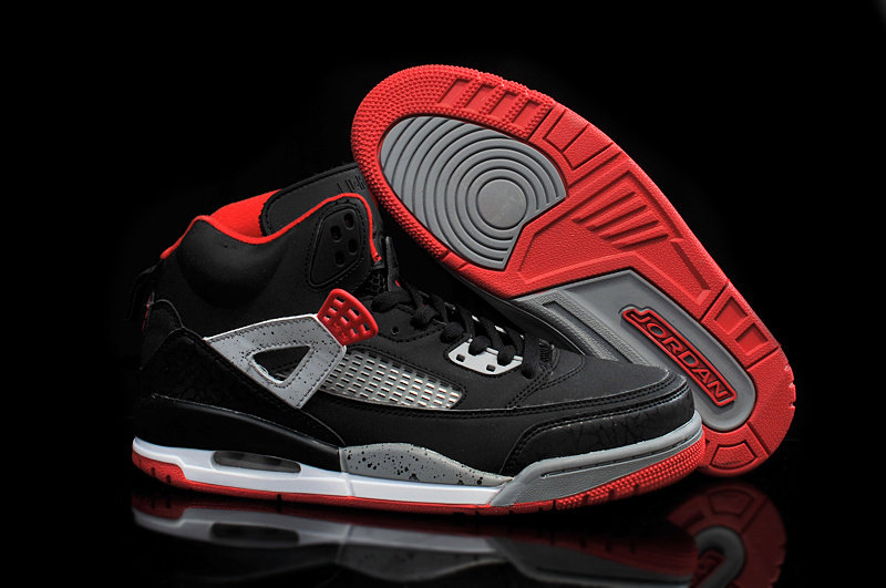 2015 Cheap Real Air Jordan 3 5 Black Red Grey Shoes
