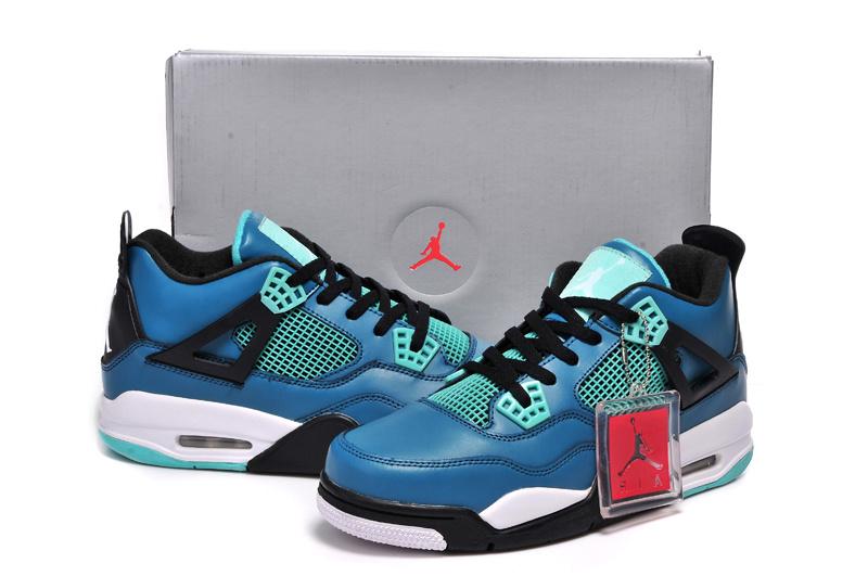 ... 2015 Jordan 4 Retro Black Jade Blue Shoes ... 3357725e7b41