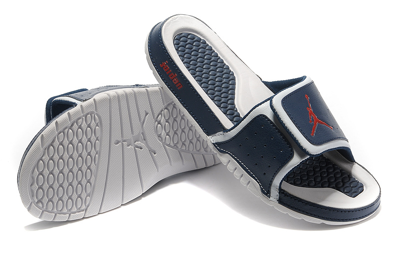2015 Air Jordan Hydro 2 Dark Blue Red White Sandal
