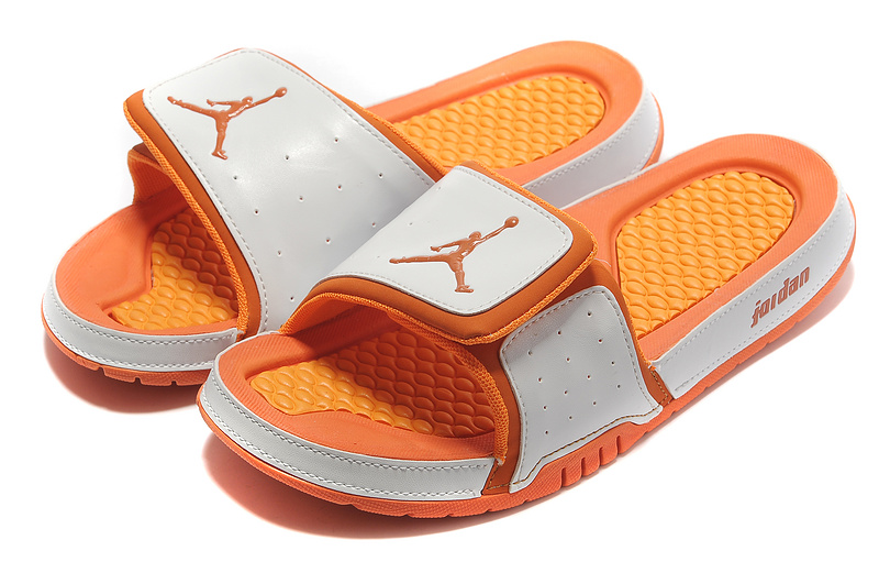 2015 Air Jordan Hydro 2 White Orange Sandal