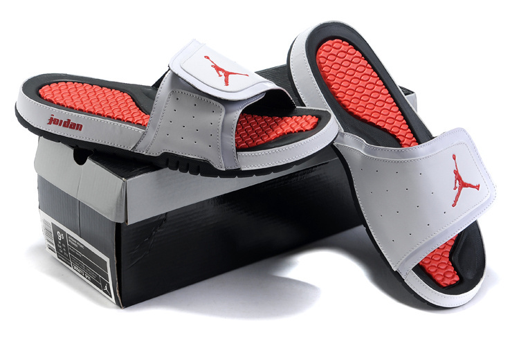 2015 Air Jordan Hydro 2 White Red Black Sandal