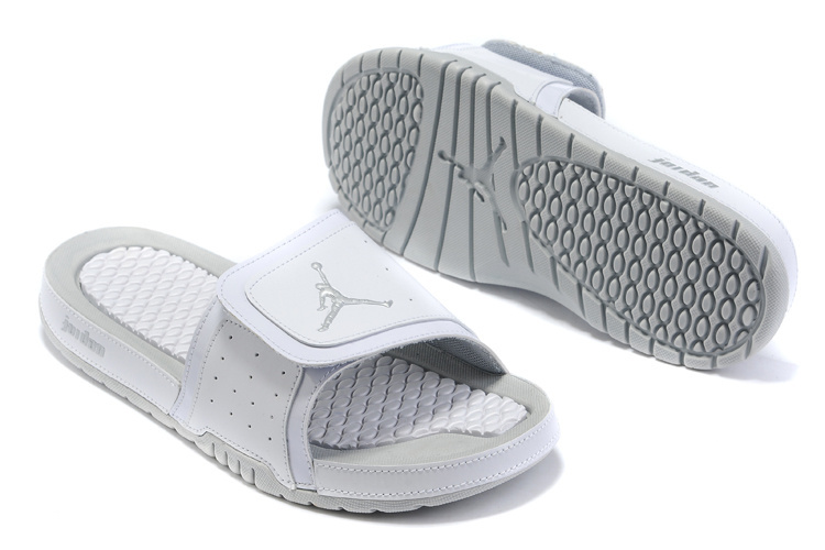2015 Air Jordan Hydro 5 All Grey Sandal