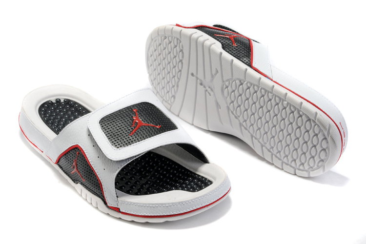 2015 Air Jordan Hydro 5 Black Red White Sandal