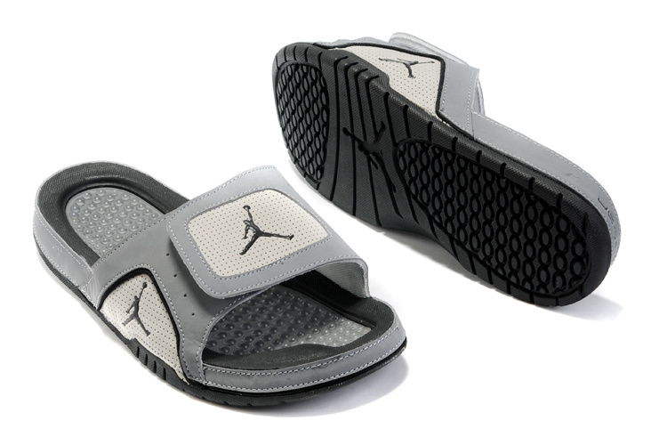 2015 Air Jordan Hydro 5 Grey Black Sandal