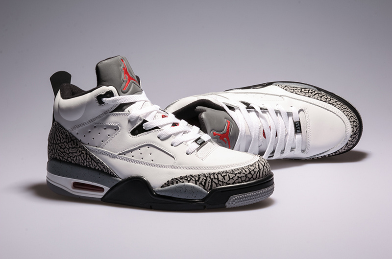 2015 Cheap Real Air Jordan Spizike White Grey Shoes