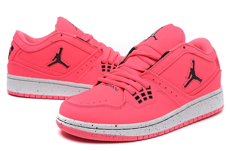 2015 Air Jordan 1 Flight Low Pink Shoes [Newest593] - $73