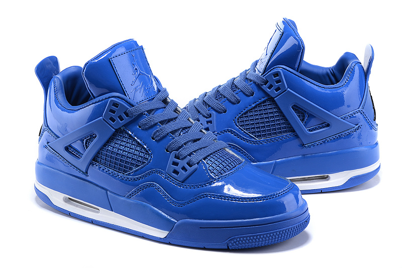 2015 New Air Jordan 4 Retro 11Lab4 Royal Blue Shoes