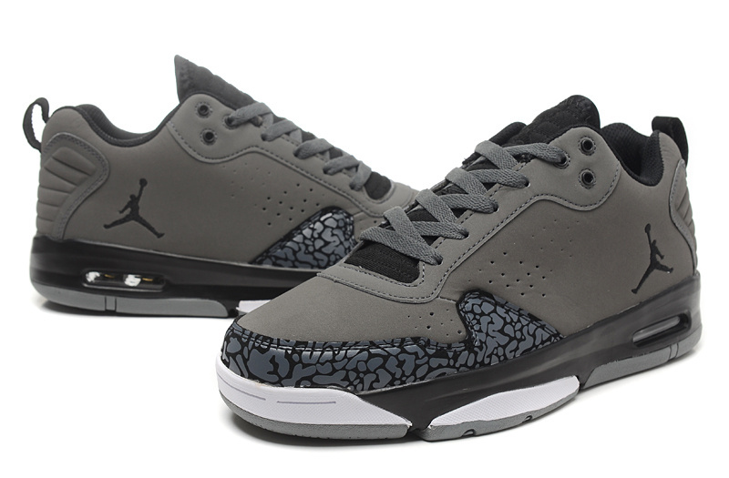 New Arrival Air Jordan Dark Grey Cement Black White Shoes