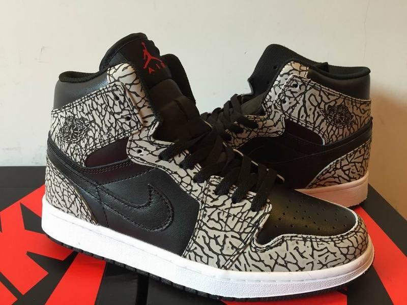 00a57db1d55b 2016 Air Jordan 1 High Un Supreme Black Cement White Varsity Red Shoes