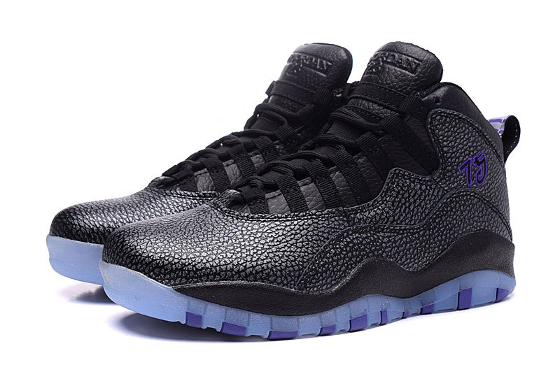 2016 Air Jordan 10s Retro Paris Black Fierce Purple Shoes