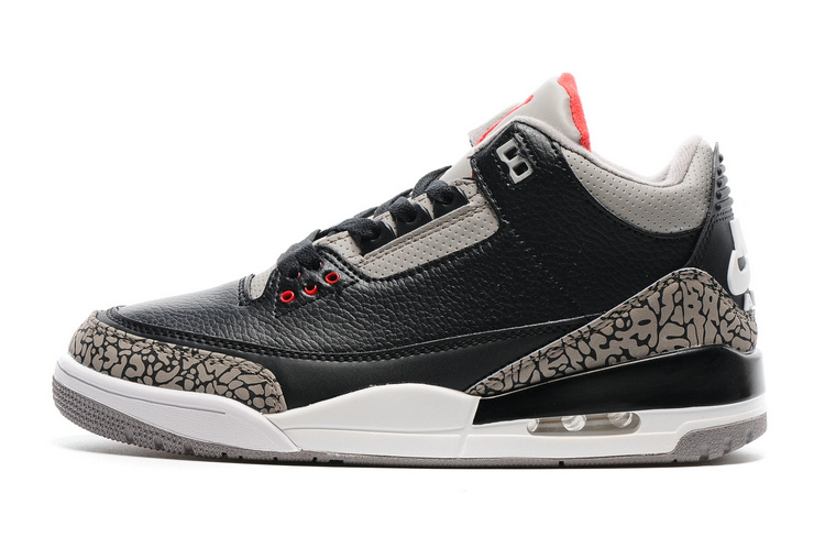 2016 Air Jordan 3 Black Cement Shoes