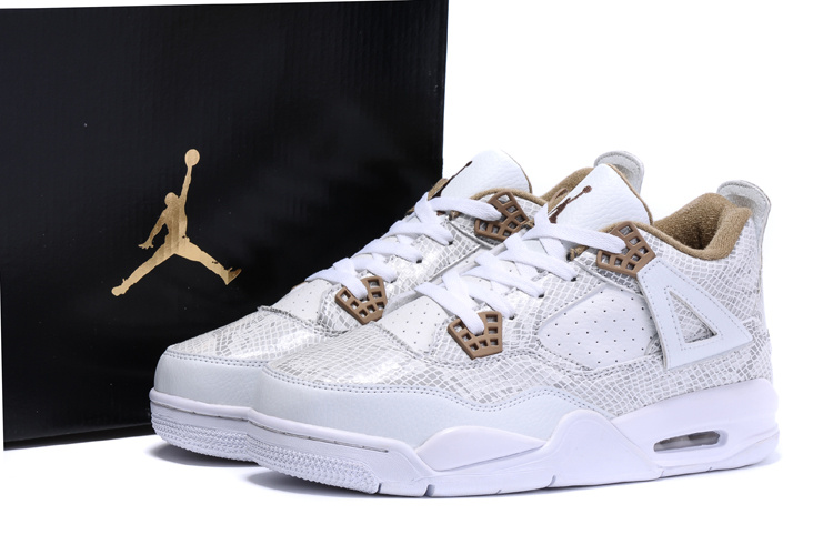 2016 Air Jordan 4 Pinnacle Snakeskin Shoes