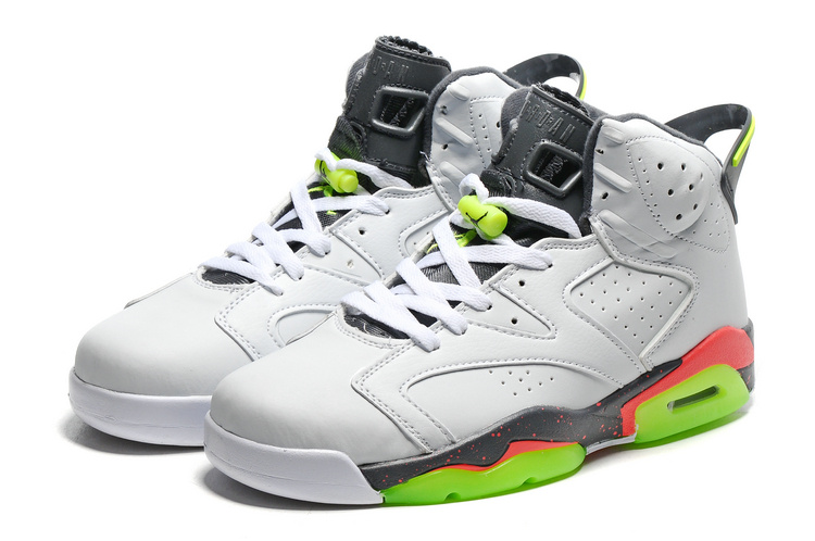 2016 Air Jordan 6 Bright Mango White Ghost Green Hasta Bright Mango Shoes