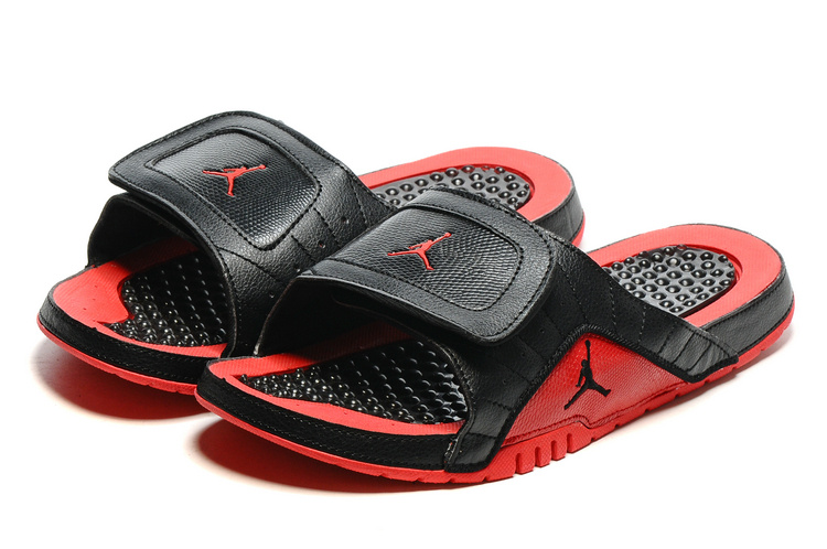 2016 Air Jordan Hydro 12 Slide Red Black Sandals