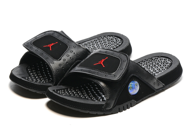 2016 Air Jordan Hydro 13 Slide Black Gym Red Sandals