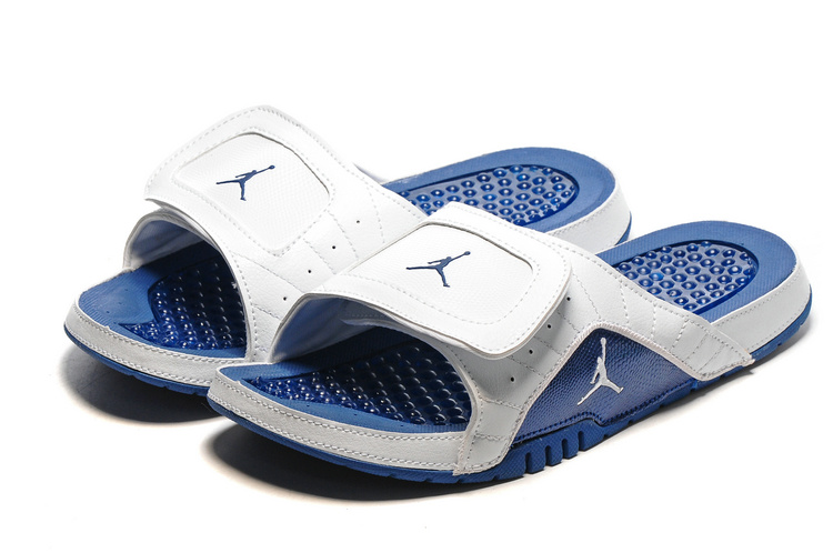 2016 Air Jordan Hydro 13 Slide Blue White Sandals