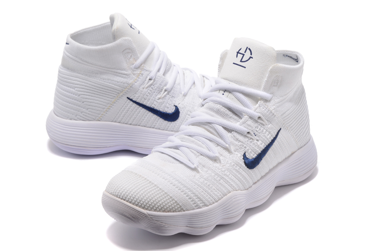 Newest Nike Hyperdunk White Dark Blue Shoes