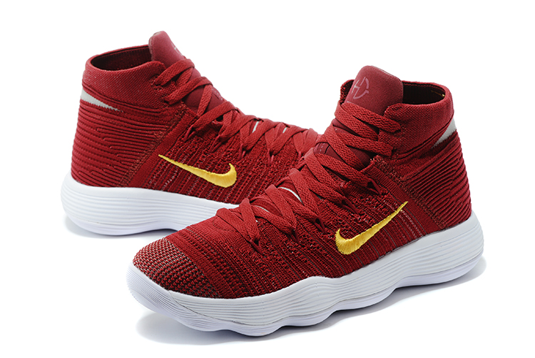 Latest Nike Hyperdunk Wine Red Gloden Shoes
