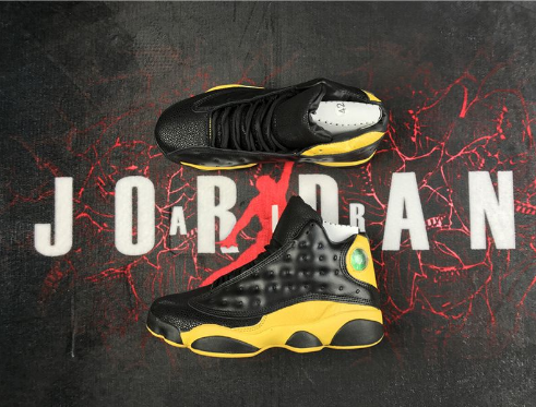 Cheap Jordan 13 Black Yellow