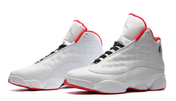 Cheap Jordan 13 History of Flight White University Red Metallic Silver