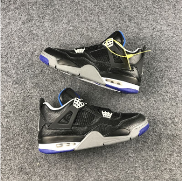 Cheap Jordan 4 Retro Black Game Royal-Matte Silver-White
