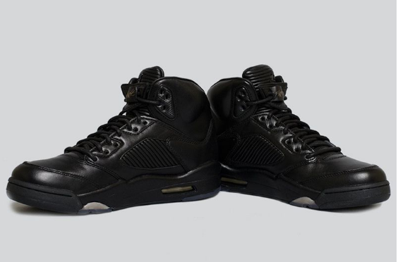 Cheap Jordan 5 Premium Flight Jacket Triple Black