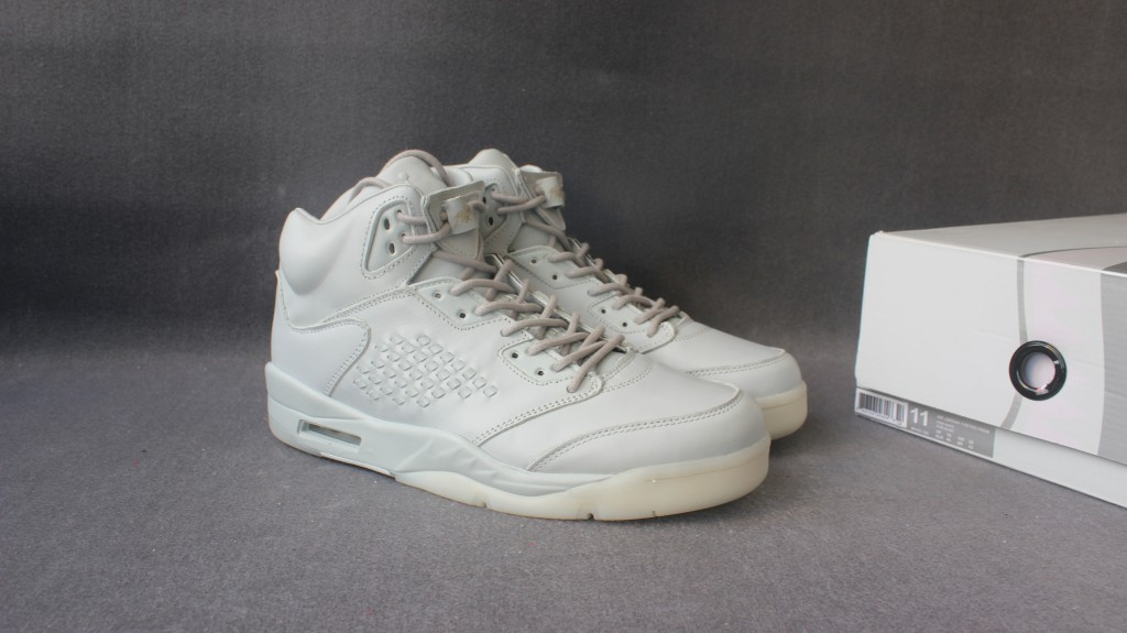 Air Jordan 5 Premium Take Flight All White Shoes
